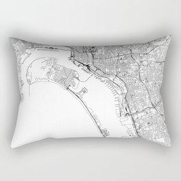 San Diego White Map Rectangular Pillow