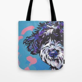 PWD Portuguese Water Dog Fun bright colorful Pop Art Dog Paintingby Lea Tote Bag
