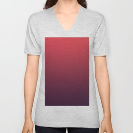 SPIRIT REFLECTION - Minimal Plain Soft Mood Color Blend Prints Unisex V-Neck