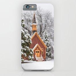 Yosemite Chapel In Snow iPhone Case