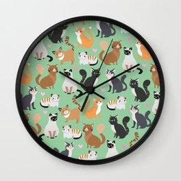 Cats cats cats Wall Clock