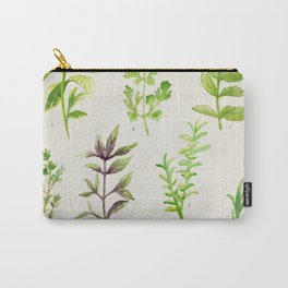 Watercolor Herbs Carry-All Pouch