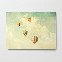 Drifting Balloons Metal Print