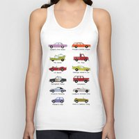 simpsons Tank Tops featuring Simpsons Cars by SIME Design
