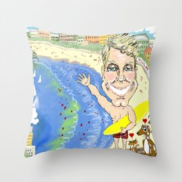 Greetings from Dr. Chris on Bondi Beach! Throw Pillow
