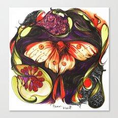 Moon Flower Moth Canvas Print