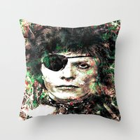 david bowie Throw Pillows featuring BOWIE by Vonis