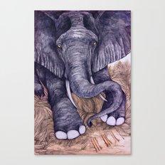 Une Mémoire d'Elephant (The Clever Elephant) Canvas Print