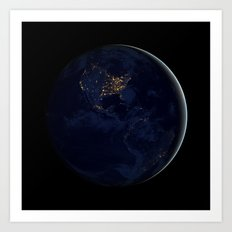 Black Marble - Americas Art Print