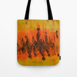 Abstract People Sunset Tote Bag