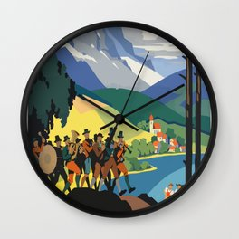 Vintage Poster Austria Wall Clock