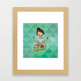 Oh So Awkward Framed Art Print