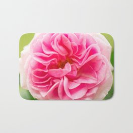 Pink Rose On A Natural Green Background #decor #society6 #buyart Bath Mat