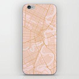 Winnipeg map, Canada iPhone Skin