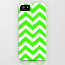 Harlequin - green color - Zigzag Chevron Pattern iPhone Case