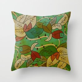 Floral, blood and thorn pattern Throw Pillow