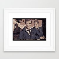 true detective Framed Art Prints featuring TRUE DETECTIVE by Mike Wrobel