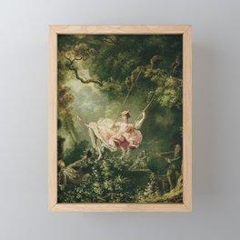 Jean-Honore Fragonard - The swing Framed Mini Art Print