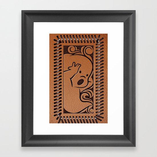 Little Ghosty Wallet Framed Art Print