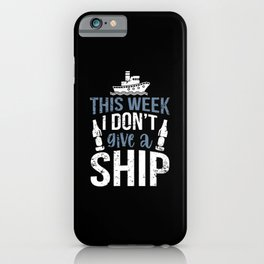 Funny Cruise Ship Trip Alcohol Drinking Vacation iPhone Case