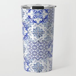 Azulejo VIII - Portuguese hand painted tiles Travel Mug