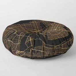 Black and gold New Orleans map Floor Pillow