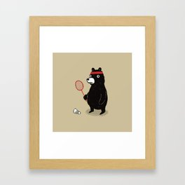 Badminton Bear Framed Art Print