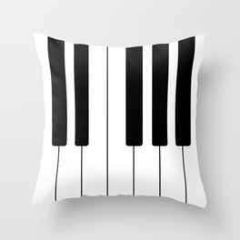 Piano Keys - Music Throw Pillow