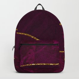 Organic Marbled Pattern Backpack
