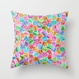 Marble Hive Jewels Throw Pillow