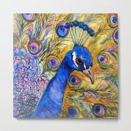 Prince Peacock Metal Print