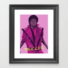 THRILLER - Leather jacket Version Framed Art Print