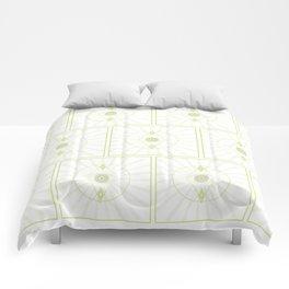 Green Seeing Eye Pattern Comforters