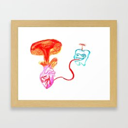 Explosive heart Framed Art Print