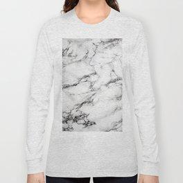 Greyish White Marble Long Sleeve T-shirt
