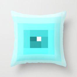 Blue Spiral Throw Pillow