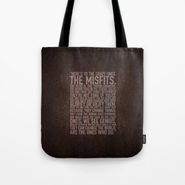 Here's to the crazy ones (Rust) by Brian Vegas Tote Bag