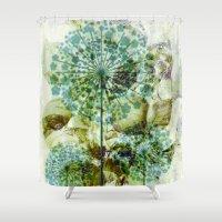 dandelion Shower Curtains featuring dandelion by clemm