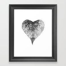 heart b&w Framed Art Print