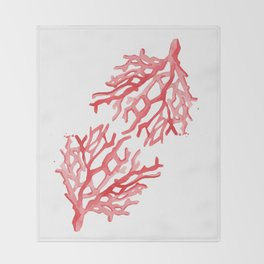 Red Coral no.3 Throw Blanket