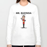bazinga Long Sleeve T-shirts featuring Mr Bazinga by NicoWriter