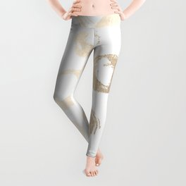 Luxe Gold City Dot Circles Leggings