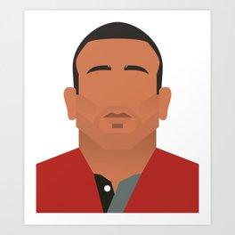 Eric Cantona Man Utd Art Print