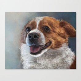 Cardigan Corgi Painting Portrait Canvas Print