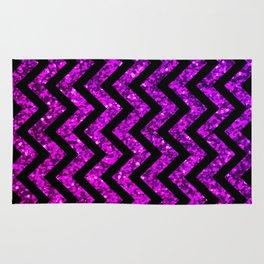 Chevron Purple Sparkle Rug
