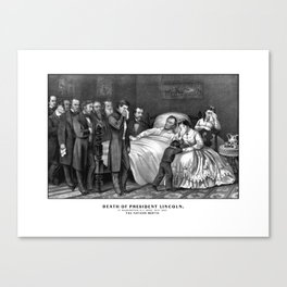 Death Of President Lincoln Canvas Print