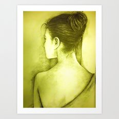 BEHIND Art Print