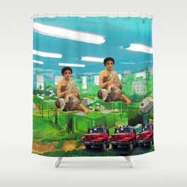 THE TELEVISION FACTORY II Shower Curtain