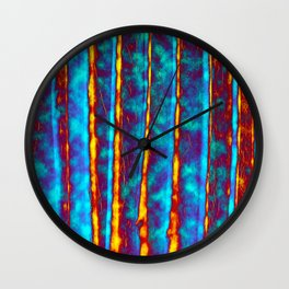 Blue and Orange Wall Clock