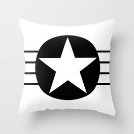 Black And White Star Throw Pillow
